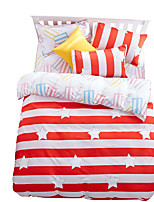 Mingjie Wonderful Red Lines Bedding Sets 4PCS for Twin Full Queen King Size from China Contian 1 Duvet Cover 1 Flatsheet 2 Pillowcases
