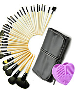 32pcs Makeup Brushes Set Professional Blush/Powder/Foundation Brush with  Purple Brush Egg