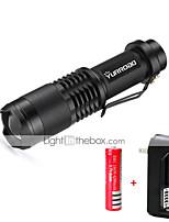 LED 3000 lumens Lumens 5 Modo Cree XM-L T6 18650Messa a fuoco regolabile Resistente agli urti Impugnatura antiscivolo Strike Bezel