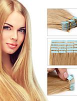 Fita extensão de cabelo humano remy 30g / 40g / 50g inclui 20pcs por pacote para as mulheres da moda cabelo humano