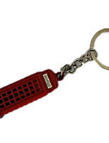 Key Chain Cylindrical Red Metal