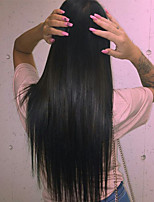 Silky Natural Straight 8-24 Inch 100% Indian Remy Human Hair Lace Front /Full Wig