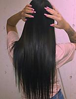 soyeux droit naturel 8-24 pouces 100% indien avant de dentelle de cheveux remy / perruque