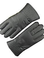 luvas de couro inverno dos homens e tela sensível ao toque quente luvas touch screen quentes grossas a andar de moto