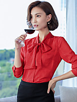 teken 2016 najaar nieuwe Koreaanse vrouwen boog blouse chiffon overhemd