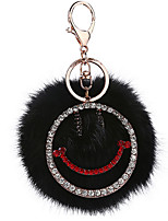 Key Chain Sphere Key Chain Black Metal / Plush