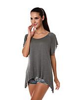 AliExpress Europa och de nya rund hals kortärmad Raglan T-shirt oregelbundna nertill kvinnor&# 39; s utrikeshandel