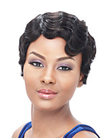 Short Black Color Synthetic Wigs Natural Curly Cheap Wig For Black Women