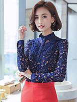 לחתום 2016 נשים קוריאניות חדשות בסתיו קטיפה רזה תחרה נשית גיבוי חולצה בתוספת עבה