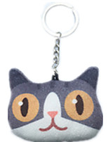 Key Chain Cat Key Chain Gray Cotton