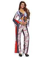 Débardeur Pantalon Costumes Femme,Imprimé Vacances Sexy / Bohème Automne Manches Longues Col en V Multi-couleur Polyester / Spandex Fin