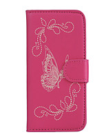 For Huawei P9 Lite Y5 II Y6 II Card Holder Wallet with Stand Flip Embossed Case Full Body Case Butterfly Hard PU Leather for Huawei Honor 8 5c V8 5A