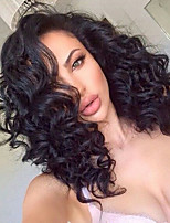 High Density Loose Curly 360 Lace Wig 150% Density Human Virgin Hair Black Color Wig with Baby Hair For Black Women