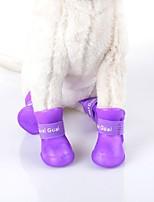Gatos / Cães Sapatos e Botas Prova-de-Água Inverno / Verão / Primavera/Outono Cor Única Verde / Azul / Púrpura / Preto / Rosa Pele PU