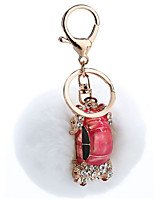 Key Chain Sphere Key Chain Red / White Metal / Plush