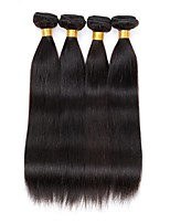 4 bundles Brazilian Straight Human Hair Weave Extensions 400g