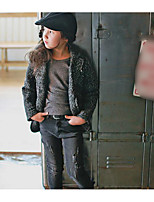 Girl's Casual/Daily Solid Suit & BlazerPolyester Winter / Fall Black