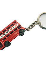 Key Chain Car Red Metal