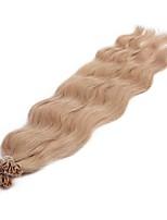 Neitsi 20'' 50g/lot 1g/s Natural Wave Keratin Fusion U Tip Human Hair Extensions Curly Pre bonded Hair 18K#