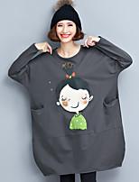 gehaktbal hoofd meisje los, casual katoenen lange t-shirt art rok