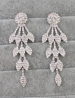 Drop Earrings Euramerican Rhinestone Alloy White Jewelry ForWedding Party Special Occasion Anniversary Birthday Housewarming