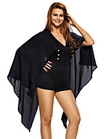 Black Gold Buttons Cape Romper