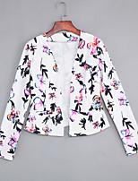 Women's Casual/Daily / Work Vintage / Street chic Fashion Slim OL Style Spring / Fall BlazerFloral Cowl Long Sleeve