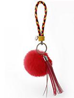 Key Chain Sphere Red Metal Plush
