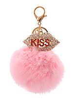 Key Chain Sphere Key Chain Pink Metal / Plush