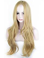 Perruques naturelles Synthétique Sans bonnet Perruques Long Blond Cheveux