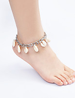 Women'S Silver Alloy Anklet Jewelry 1pc