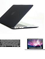 3 dans 1 cas pleines de corps durs avec couvercle du clavier et hd protecteur d'écran pour MacBook Air 13,3
