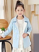 Girl's Casual/Daily Solid Suit & BlazerOthers Spring / Fall Blue / Pink / Red