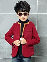 Boy's Casual/Daily Solid Jacket & CoatCotton Winter Blue / Red