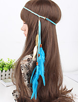 Fashion Simple Charming Feather Wooden Beads Headbands 1 Piece
