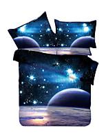 Neuartig Bettbezug-Sets 4 Stück Polyester 3D Reaktivdruck Polyester ca. 1,50 m breites Doppelbett1 Stk. Bettdeckenbezug / 2 Stk.