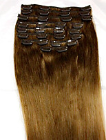 8Pcs/set  24 Inch #6 Remy Human Hair Extensions Hair Extension Type Human Hair Extensions(110g)