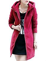 Women's Plus Size Sports Simple Hoodie Solid Micro-elastic Rayon Long Sleeve All Seasons