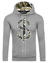 Men's Sports Going out Casual/Daily Simple Street chic Punk & Gothic Hoodie Solid Print 3D Print Hooded Micro-elastic Cotton Long Sleeve