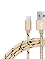 USB 2.0 Intrecciato Cavi Per Samsung Huawei HTC Lenovo Xiaomi 100 cm Nylon
