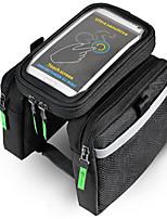Bike BagBike Frame Bag Waterproof Waterproof Zipper Wearable Phone/Iphone Breathable Touch Screen Shockproof Bicycle Bag Nylon Cycle Bag