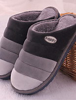 Men's Slippers & Flip-Flops Fashion Cotton Slipper Casual Flat Heel Slip-on Blue / Gray Walking EU39-43