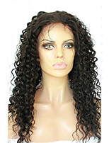 Full Lace Human Hair Wigs For Black Women Deep Curly Peruvian Virgin Hair Full Lace Wig With Baby Hair