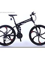 Mountain Bike Folding Bike Cycling 27 Speed 24 Inch 26 Inch/700CC SHIMANO Oil Disc Brake Suspension Fork Aluminium Alloy Frame Folding