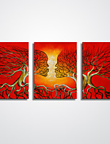 Unframed Abstract Painting Tree Canvas Print  Abstract Faces Modern Wall Art  for Decoration 30x40cmx3pcs