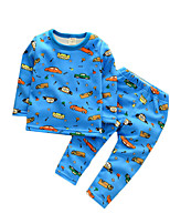 Boy's Casual/Daily Print Clothing Set / SleepwearCotton Spring / Fall Blue / Red / White