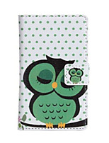 For Nokia Case Wallet / Card Holder / with Stand Case Full Body Case Owl Hard PU Leather Nokia Nokia Lumia 520