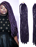 Faux Locs  MT1B/PURPLE Synthetic Hair Crochet Braids 18inch 90g Kanekalon