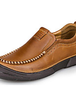 Men's Loafers & Slip-Ons Spring Summer Fall Winter Comfort Nappa Leather Outdoor Office & Career Party & Evening Casual Light Brown