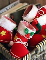 2pcs navidad decoraciones botas de dulces 9 * 6 * 10cm
